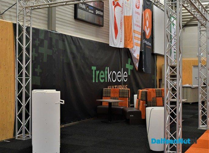 Opbouw Damito consumentenbeurs in de Trefkoele+ - Foto: Johan Bokma