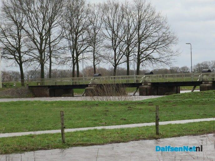 De stuwovergang bij het Vechterweerd nog steeds gesloten - Foto: Wim