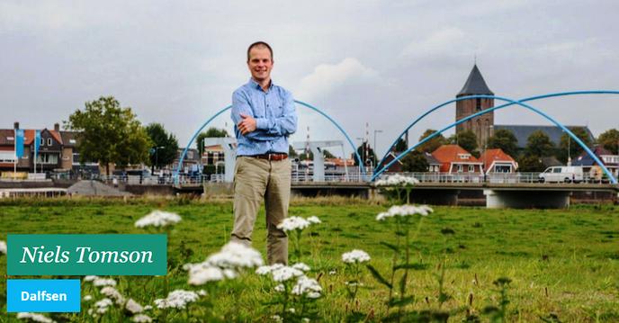 Dalfsenaar Niels Tomson: Ik wil graag in de Staten - Foto: eigen geleverde foto
