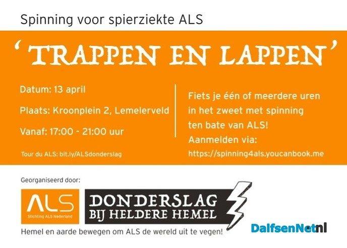 Spinning voor ALS - Foto: Ingezonden foto