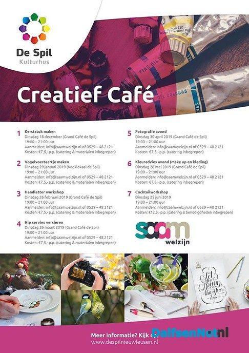 Creatief café in de Spil - Foto: Ingezonden foto