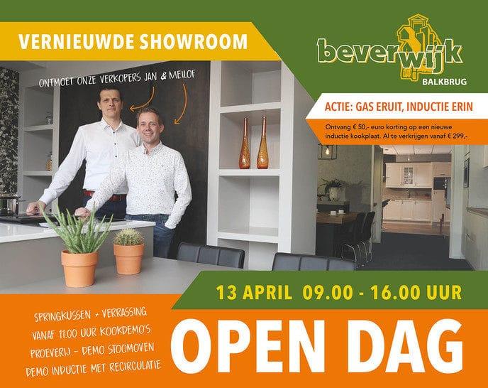 13 april Open dag vernieuwde showroom Beverwijk Keukens Balkbrug