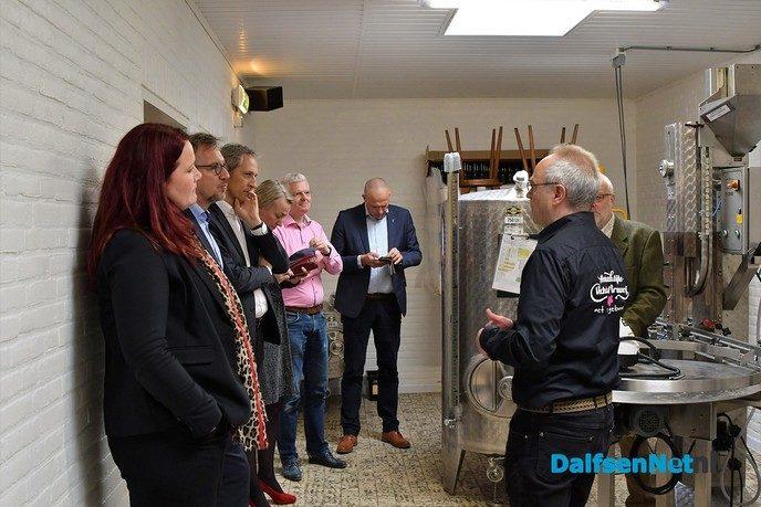 B & W Dalfsen bezoeken Vechtdal Brouwerij - Foto: Johan Bokma