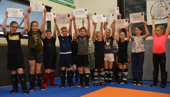Geslaagde diploma dag kickboksen - Foto: eigen geleverde foto