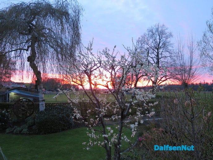Prachtige zonsondergang - Foto: Wim