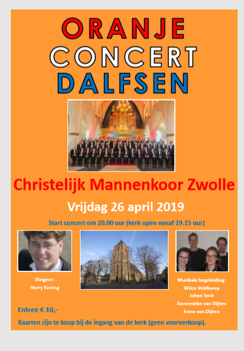 Oranje concert in Grote Kerk - Foto: eigen geleverde foto