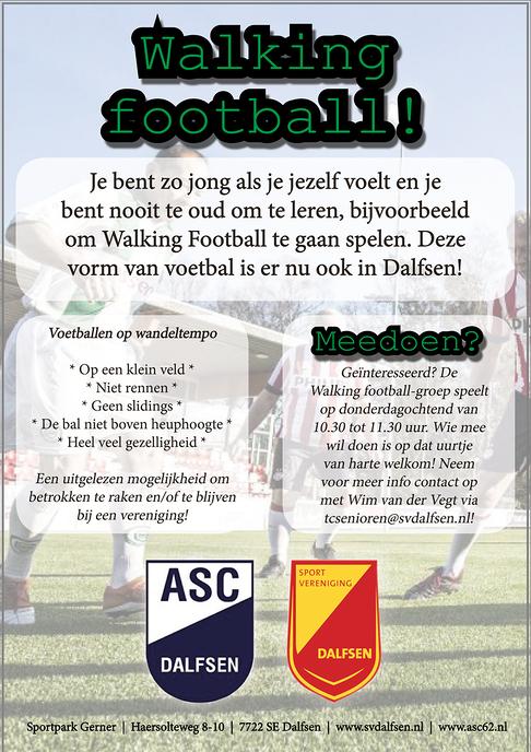 Eerste editie Walking Football op Sportpark Gerner