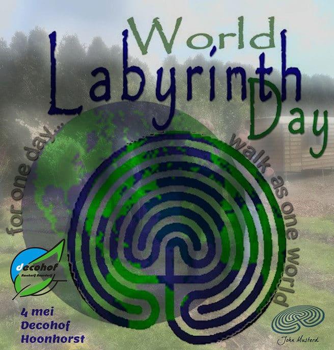 4 mei Wereld labyrintendag, ook in Hoonhorst - Foto: eigen geleverde foto
