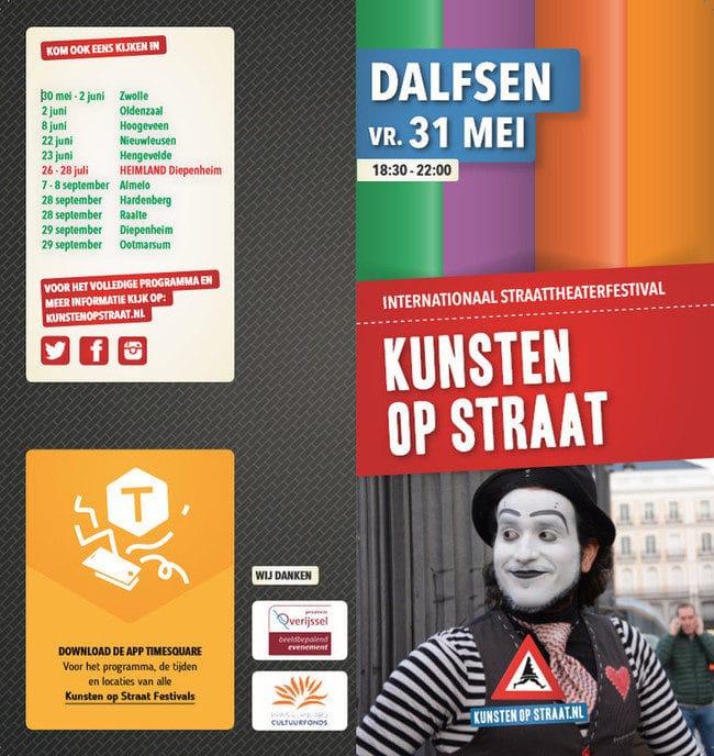 Vanavond Kunsten op Straat in het centrum van Dalfsen