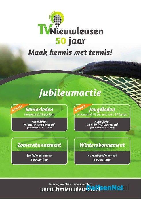Nog 2 dagen Jubileumacties Tennisvereniging - Foto: Ingezonden foto