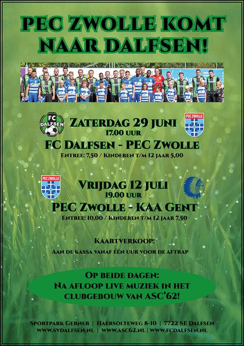 PEC Zwolle speelt opnieuw oefenwedstrijden in Dalfsen
