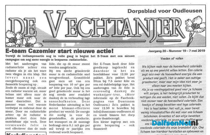 E-Team Cazemier verkoopt radiatorfolie - Foto: Ingezonden foto