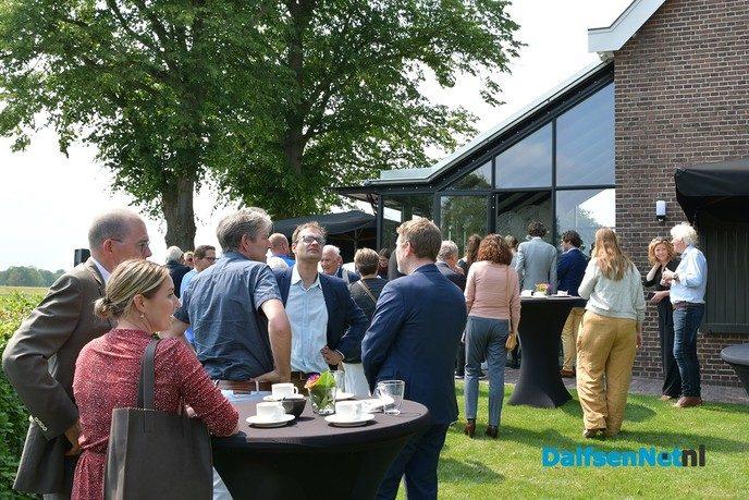 Officiële opening gerenoveerde sluiswachterswoning bij stuw Vechterweerd - Foto: Johan Bokma