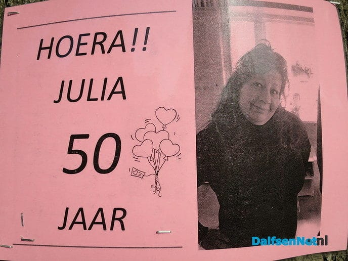 Julia al weer 50 - Foto: Wim