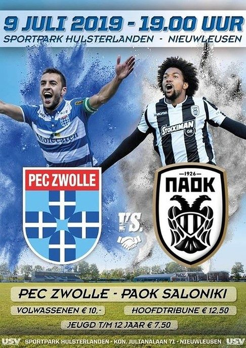 USV klaar voor PEC Zwolle- PAOK Saloniki - Foto: eigen geleverde foto
