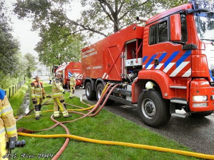 Grote woningbrand aan de Oosterkampen