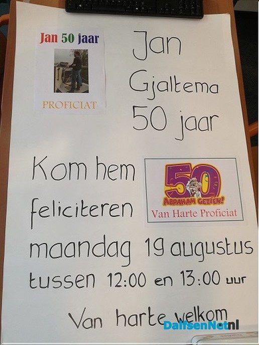 Kom Jan Gjaltema feliciteren…. - Foto: Ingezonden foto