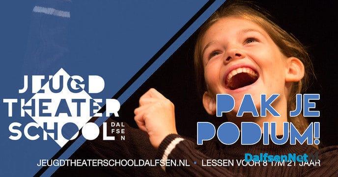 Pak je podium bij Jeugdtheaterschool Dalfsen - Foto: Ingezonden foto