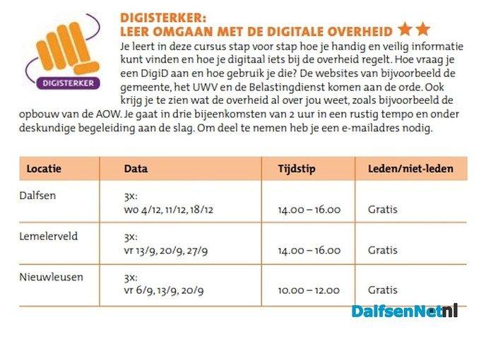 Digisterker: leer omgaan met de digitale overheid - Foto: Ingezonden foto