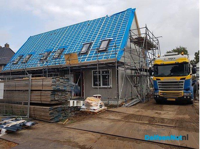 Nieuwbouw Weerdhuisweg in Lemelerveld schiet op - Foto: Ingezonden foto