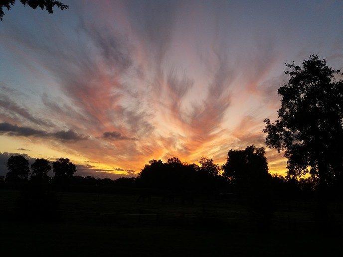 Zo kwam de zon op vanmorgen - Foto: eigen geleverde foto