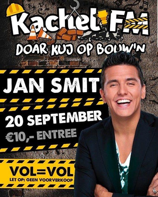 Jan Smit op de vrijdagavond van piratenfeest Kachel FM