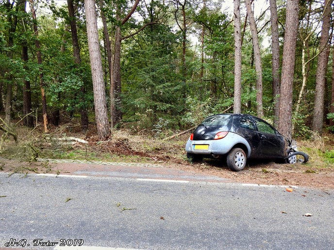 Eenzijdig ongeval Schaapskooiweg.