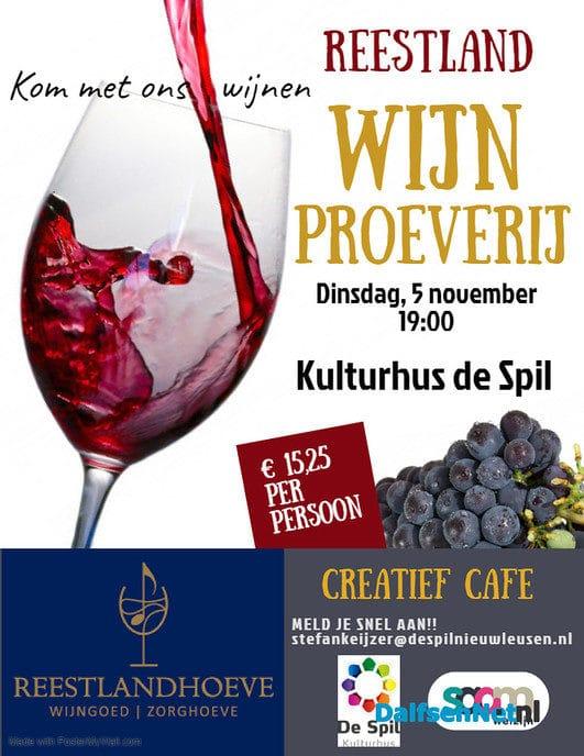 Kom met ons wijnen op 5 november - Foto: Ingezonden foto