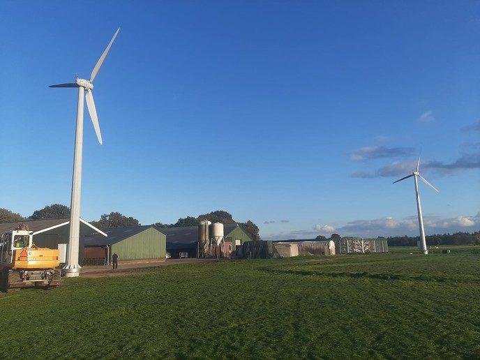 Windturbines geplaatst aan de Herfterweg - Foto: Ingezonden foto