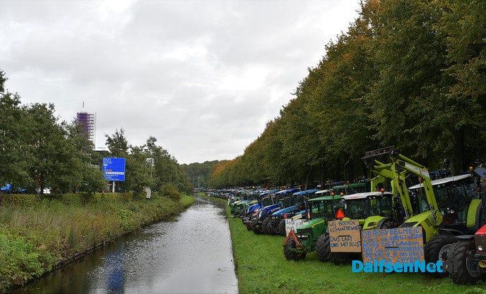 LTO sluit zich aan bij boerenacties, maandag protest bij provinciehuis Zwolle - Foto: Johan Bokma