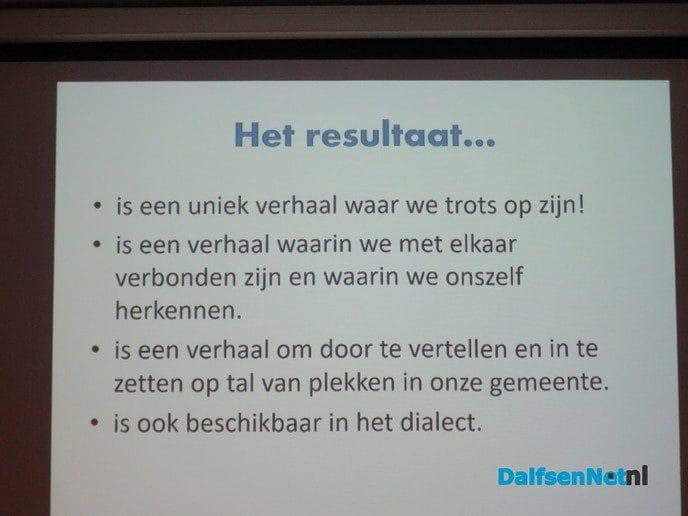 """Het verhaal van Dalfsen"""" gepresenteerd - Foto: Wim"""