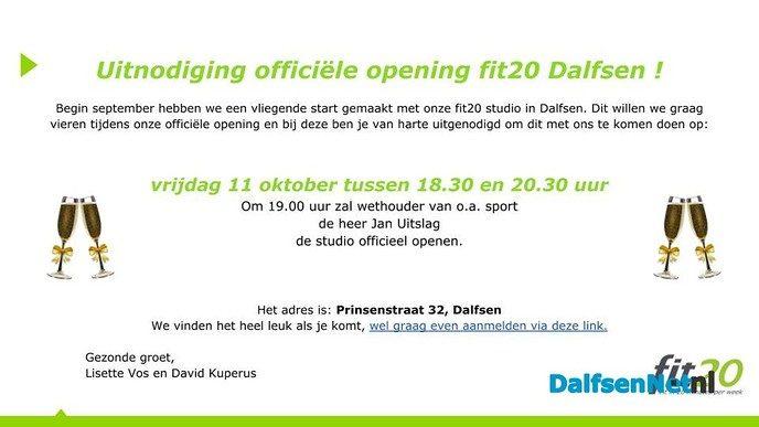 Officiële opening fit20 Dalfsen - Foto: Ingezonden foto