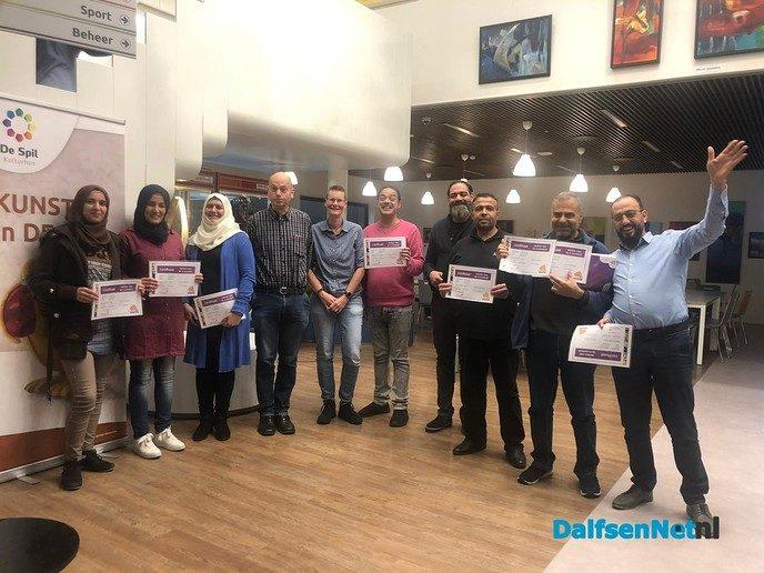 8 Digisterker-certificaten uitgereikt in de Spil in Nieuwleusen - Foto: Ingezonden foto