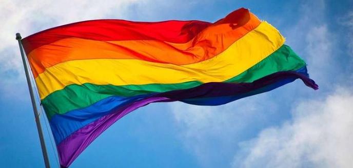 Regenboogmotie is basis voor wapperende vlag op Coming Out Day - Foto: eigen geleverde foto