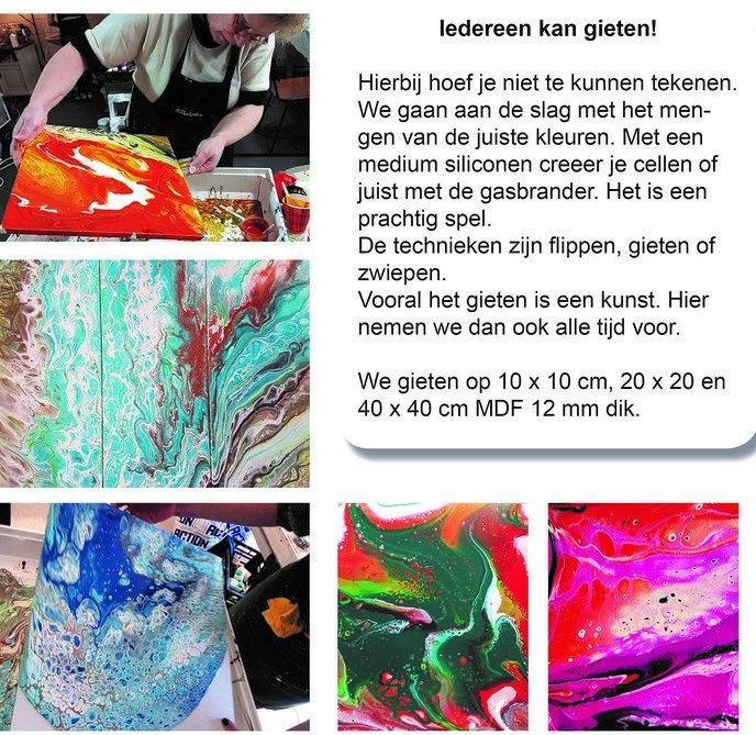 Workshop Acryl gieten - Foto: eigen geleverde foto