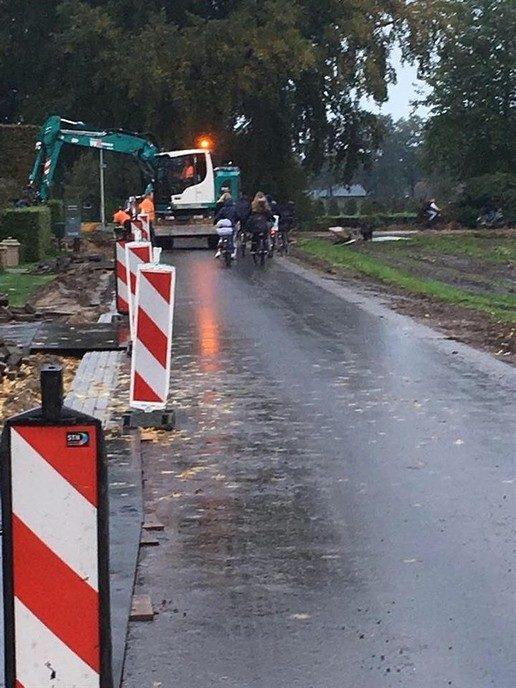 Veilig werken aan snelfietsroute  Dalfsen – Zwolle - Foto: Ingezonden foto