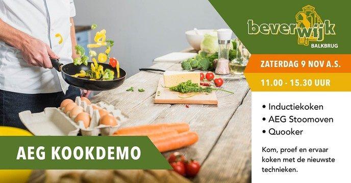 Live (kook)demonstratie bij Beverwijk Keukens in Balkbrug