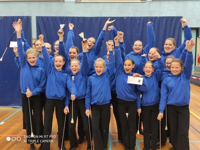 Majorettes van kampioen naar kampioenschap - Foto: Ingezonden foto