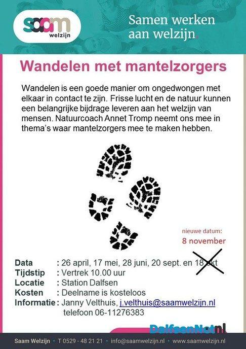 Wandelen met mantelzorgers - Foto: Ingezonden foto
