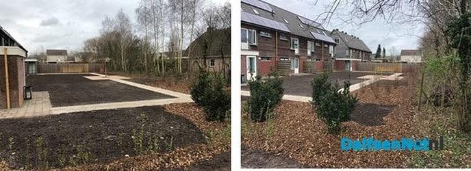 Opgeknapte gemeenschappelijke achtertuin - Foto: Ingezonden foto
