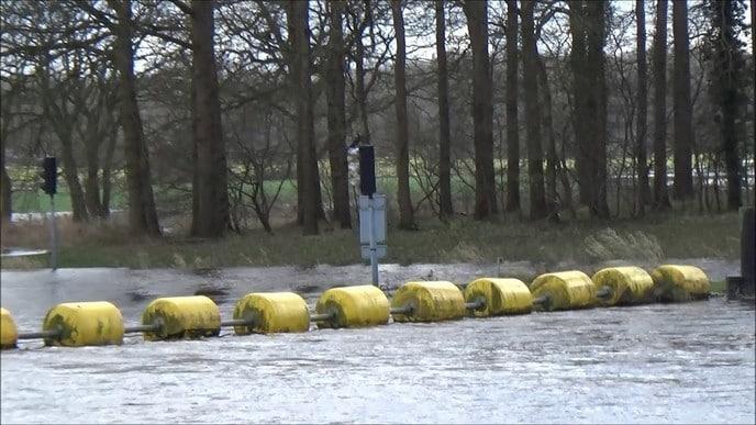 Hoog water rond Dalfsen (video)