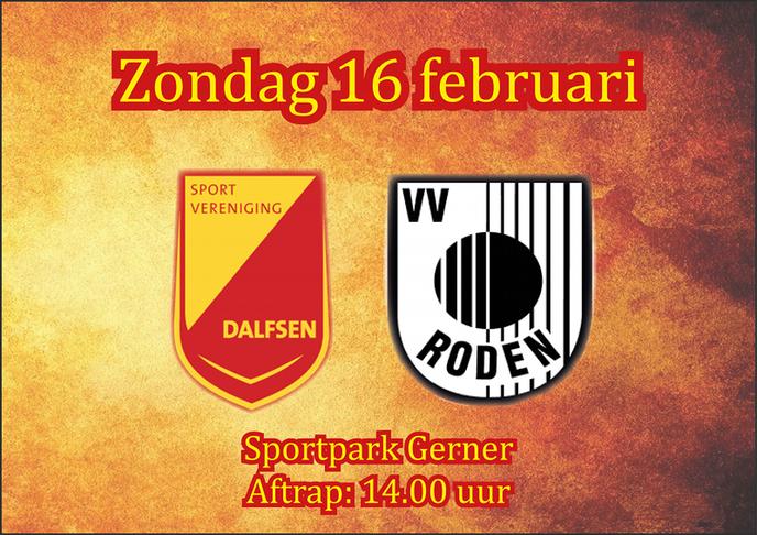 SV Dalfsen ontvangt VV Roden op Sportpark Gerner