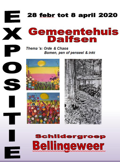 Schildergroep Bellingeweer exposeert - Foto: Gemeente Dalfsen
