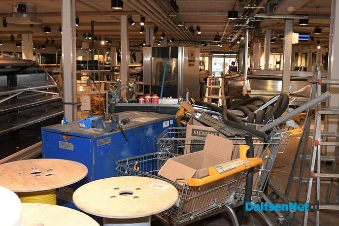 Dag 3 van de verbouwing Jumbo Kamphuis - Foto: Johan Bokma