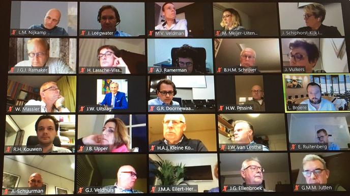 Eerste digitale raadscommissie vergadering - Foto: Gemeente Dalfsen