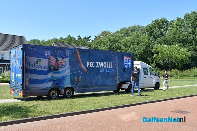 PEC Zwolle truck on tour vanmiddag bij Philadelphia in Dalfsen - Foto: Johan Bokma