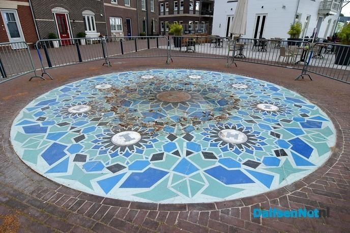 De fontein op het Koninginneplein met zorg gerestaureerd - Foto: Johan Bokma
