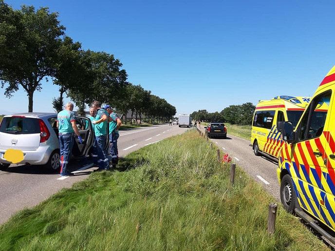 Aanrijding met letsel op de Hessenweg - Foto: Niels Jansen