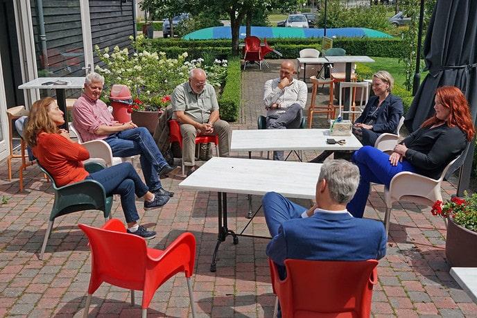 Bedrijfsbezoek college Dalfsen aan Buitenplaats Gerner - Foto: Paul Scholten