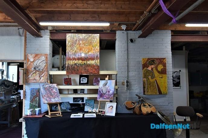 Schilderworkshop en expositie Janny de Groot - Foto: Johan Bokma